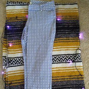 Patterned Stretch Crop Pants